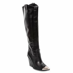 Stivali donna scarpe texani western cowboy punta metallo