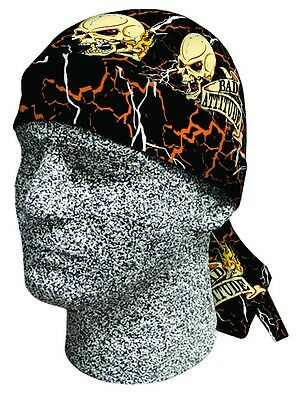 Bad Attitude Bandana Biker Do rag Head wrap Skull cap Doo rag Capsmith Du rag