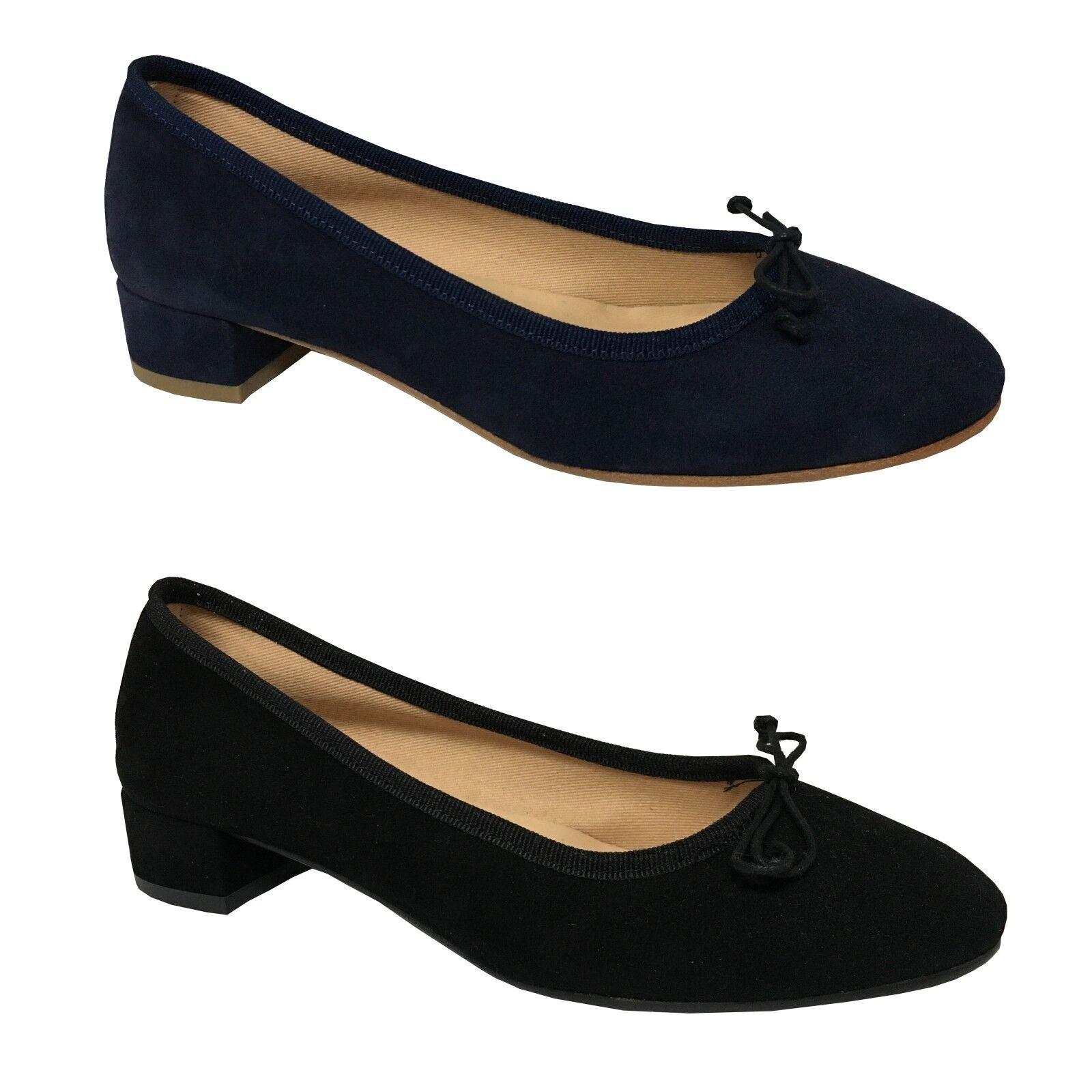 UPPER CLASS ballerina woman suede mod ROMY with heel coated cm 3.5