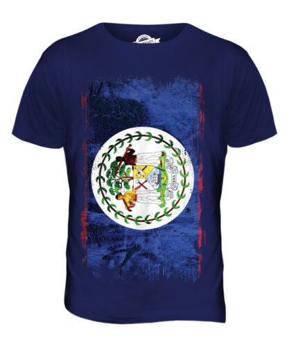 BELIZE GRUNGE FLAG MENS T-SHIRT TEE TOP BELIZEAN SHIRT FOOTBALL JERSEY GIFT