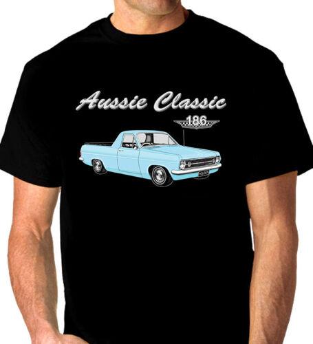 BIG FIT 10 CAR COLOURS 1966 1967  HOLDEN  HR  UTE  QUALITY BLACK TSHIRT