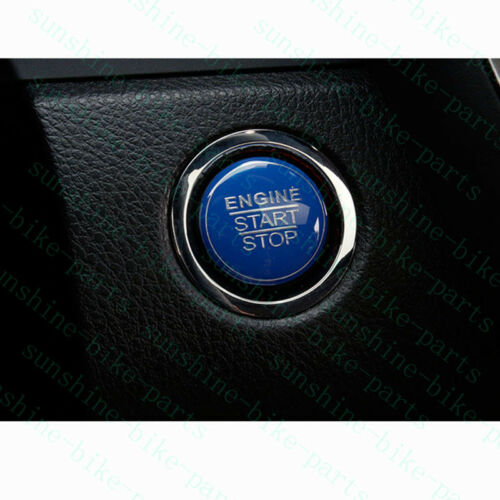 1pcs For Toyota Camry 2018 Car BLUE ABS Engine Start Stop Decorative Frame Trim