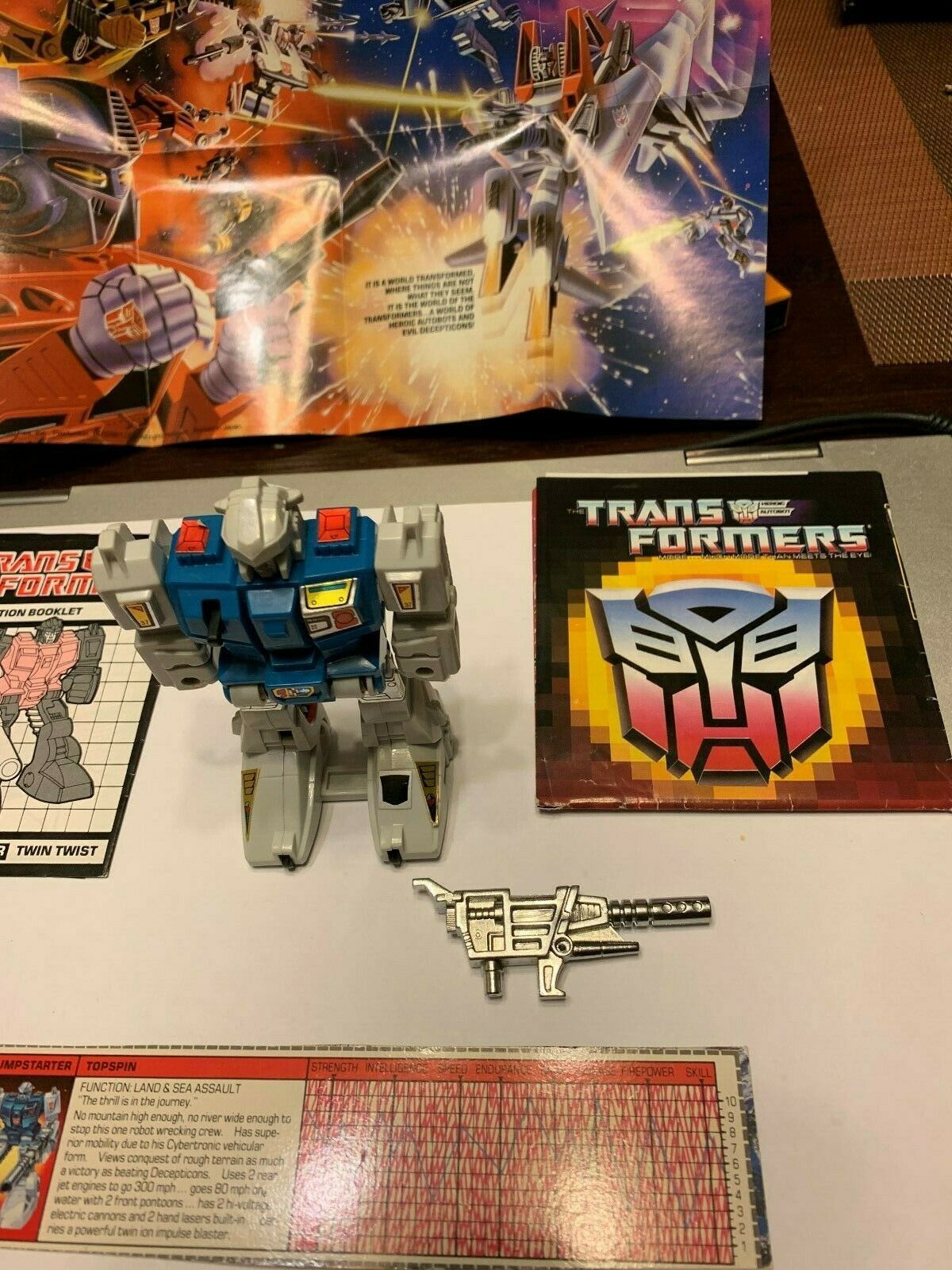 Transformers G1 Twin Twist Complete w Instruction Booklet, Booklet, Booklet, inserts & Specs Card  0c5419