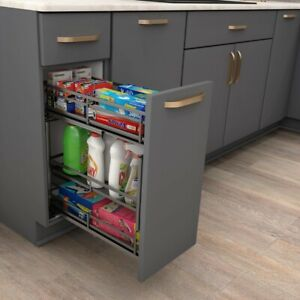 8 Heavy Duty Metal Kitchen Base Cabinet Pullout For 9 Inch Opening Soft Close Ebay