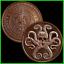 2019 1oz In Q Tel BU .999 Copper Silver Shield InfoIndCom Series #7