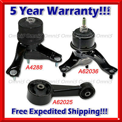 Engine Mount /& Auto Trans Mount Set 3PCS For 2007-2008 TOYOTA CAMRY L4 2.4L AT