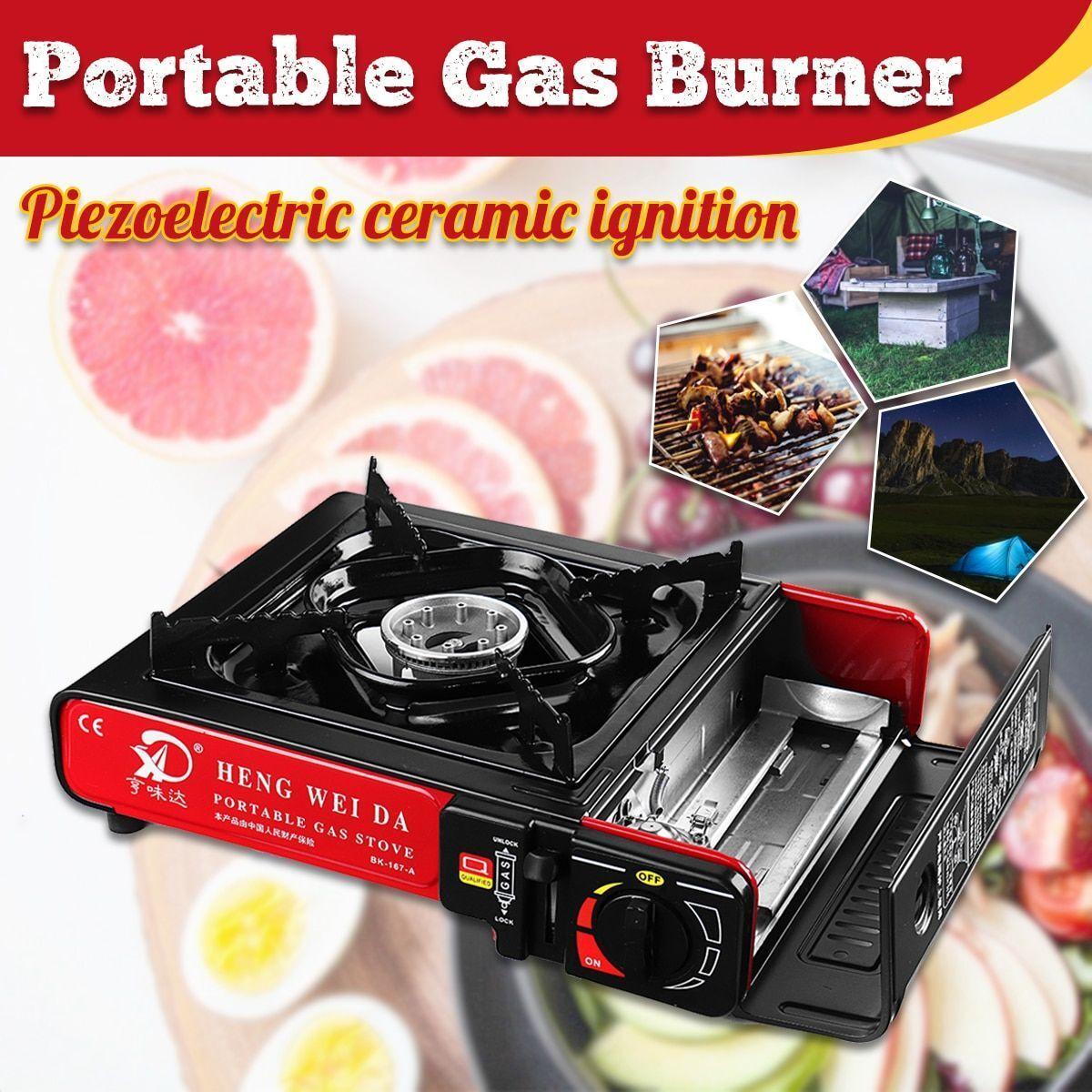Estufa de Gas Quemador Portátil Cocina Ware Herramienta para Camping Picnic al aire libre equipos