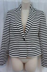 Film Business 2 West Noir Nine Blazer Striped Dinner Ivory Jacket Black Sz gUFnYHWq