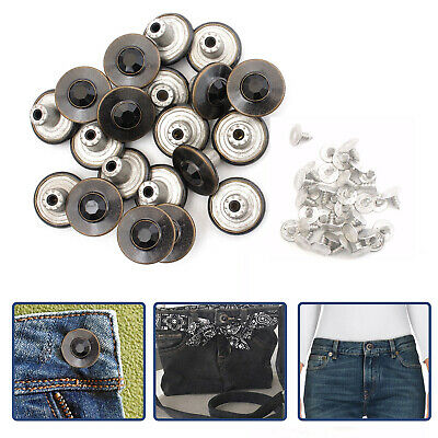 10pcs Hammer on Denim Jeans Buttons 17mm Brass Replacement Studs for DIY Jacket