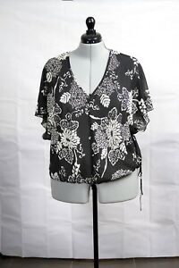 Sussan-Soft-Black-and-White-Loose-Chiffon-Top-Size-16