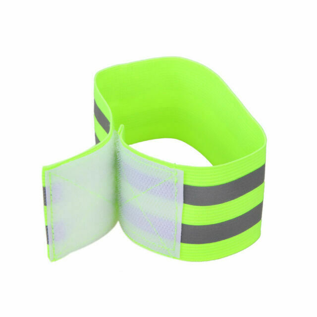 Green Bike Cycling Riding Reflective Safety Pants Band Leg Strap Belt 30CM