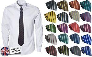 High-Junior-Infant-School-Single-Stripe-Striped-Tie-or-Clip-On-or-Elastic-Ties