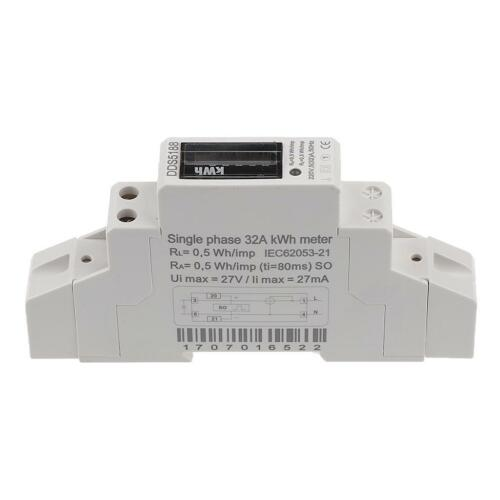 20,30,32A Single Phase Power kWh Electricity Energy Sub Meter DIN Rail Mount