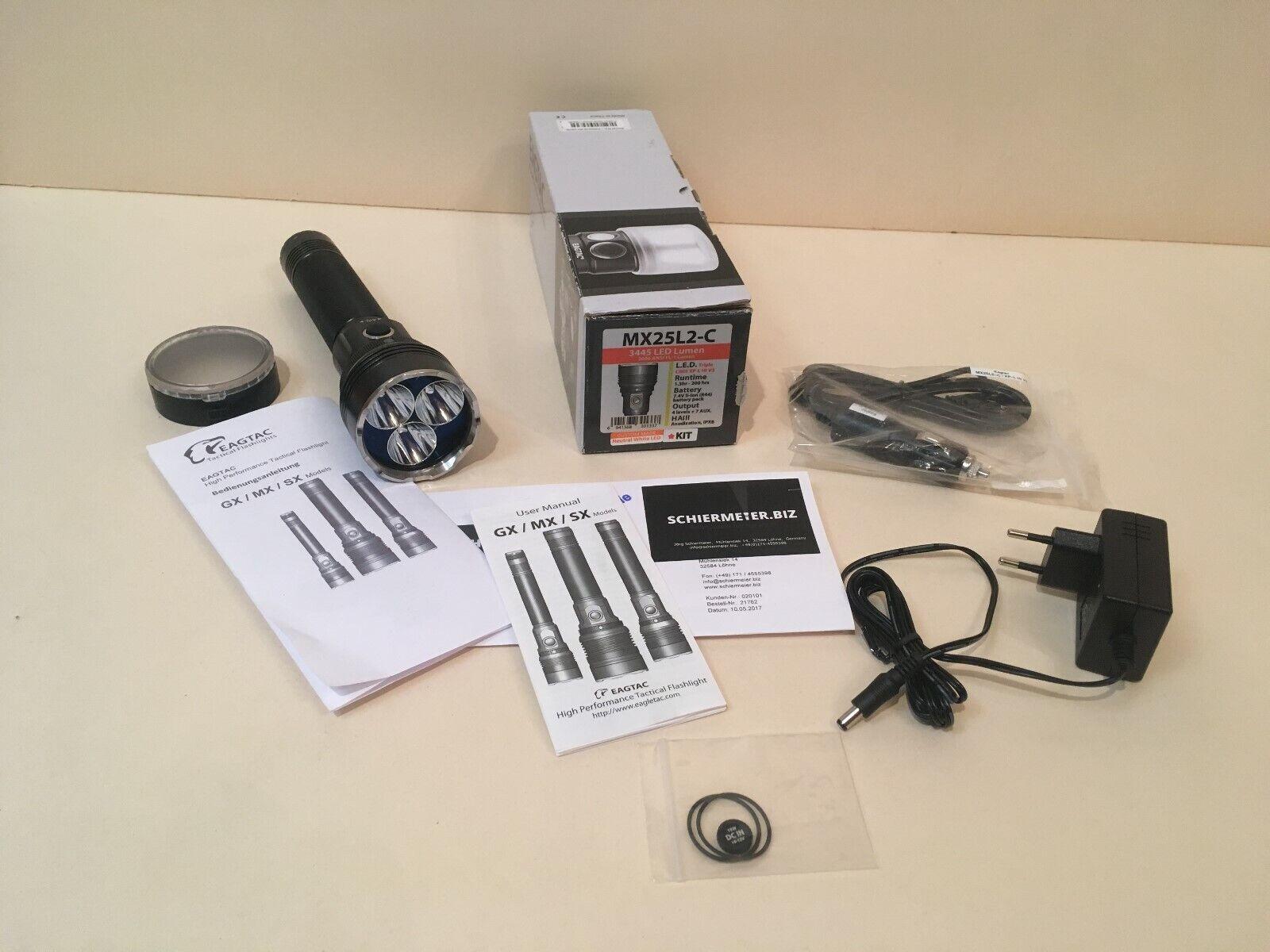 EAGTAC MX25L2-C Stablampe XP-L HI Neutral Weiß LED Custom Made TOP Taschenlampe  | Günstig
