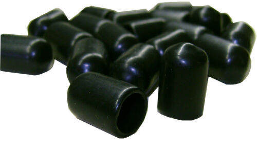 "Lot of 20 Plastic Caps 3//8/"" Tubing .343 ID High Quality Black"