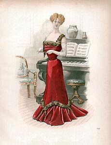 3-Victorian-Edwardian-Ladies-Dress-Design-Fashion-Colour-Pictures-Reprint-Prints