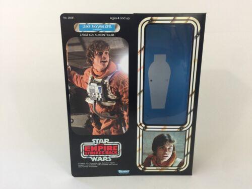 "Custom Vintage Star Wars ESB 12"" Luke Skywalker X-WING PILOT BOX   inserti"