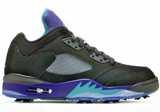 Size 11.5 - Air Jordan 5 Low Golf Black Grape