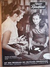 UNSER RUNDFUNK 42 - 1957 Programm: 13.- 19.10. Festtag Schönberg Tecco FF DABEI