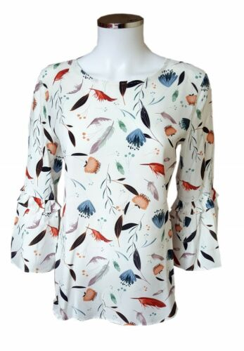 bluse Fit Schwarze 11 Shirt Alloverprint Modern Seidensticker Rose 127011 Weiss wAxpqp