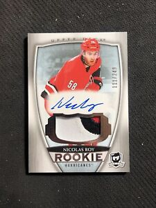 2018-19 UPPER DECK THE CUP NICOLAS ROY ROOKIE AUTO PATCH #ed 111/249