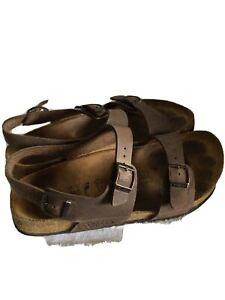 BIRKIS by BIRKENSTOCK Open Toe Ankle Two Strap Sandals Women's  Size 40 US/L9 M7