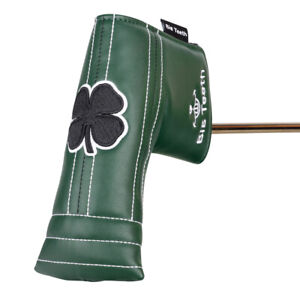 Golf-Putter-Head-Covers-Blade-Magnetic-Lucky-Clover-New-For-Cameron-Taylormade