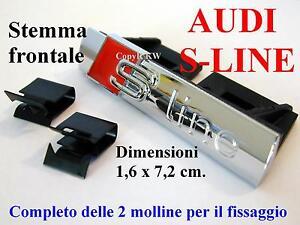 AUDI-S-S-line-LUCIDO-POLISH-A1-A3-A4-A5-A6-TT-Stemma-Badge-Logo-Calandra-Griglia