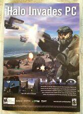 Halo Combat Evolved Poster Ad Print X-Box PC