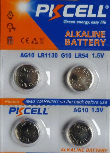 4 PILES LR1130 / AG10 / LR54 / 189 / 1,5V / ENVOI RAPIDE