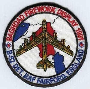 Desert Storm Bagdad Feux D'Artifice Affichage 1991 B-52 Dét. Raf Fairford