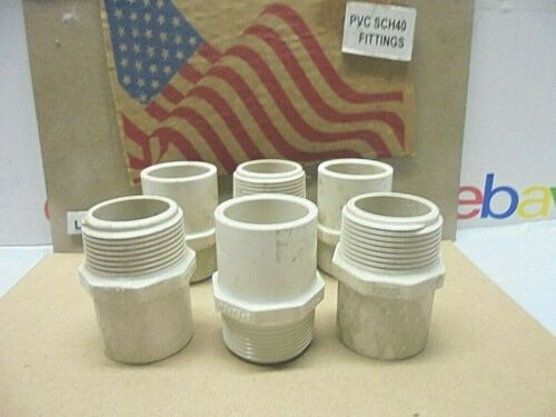 """6 1 1//4/"""" SPIG X MALE ADAPTER  PVC Schedule 40 MADE IN USA Plumbing Pipe Fitting"""