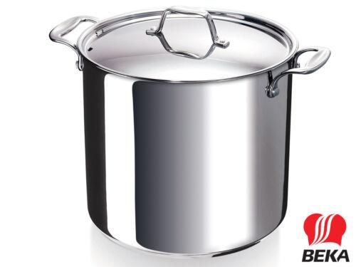 BEKA gemüsetopf chef avec couvercle 28 cm en acier inoxydable pot haut 17 litres induction
