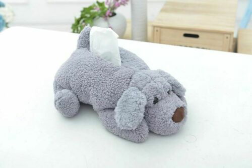 Dog Puppy Tissue Case Facial Napkin Holder Home Office Paper Towel Storage Cases