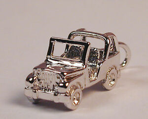Sterling-Silver-JEEP-Wrangler-Charm-with-Lobster-Claw-Clasp-Free-U-S-Shipping