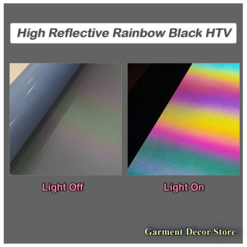 "Heat Press Vinyl 12/"" Wide colors Reflective Heat Transfer HTV T-Shirt Iron On"