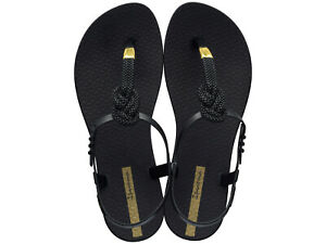 Ipanema-Toe-Separator-Sandals-Bath-Shoes-Class-Glam-II-Fem-Black-NEW