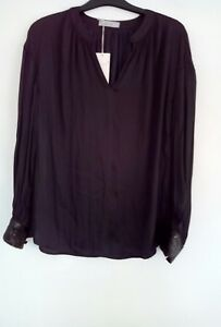 7b9098be41d645 ladies black satin blouse by m s size 8 new with tags