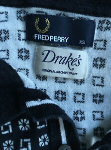 Drakes-X-Fred-Perry-Original-Archive-Print-Knit-Polo-Shirt-XS
