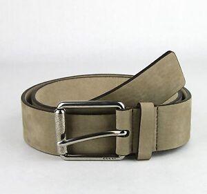 scarpe sportive e2ae0 f852b Dettagli su Nuovo Gucci Uomo 0883339307947 Marrone Cintura Metallo Fibbia  W/ Gg Dettaglio