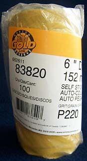 "Norton Gold Reserve 83819 6/"" DA Stick Back 180 Grit Sandpaper Roll 100 disc"