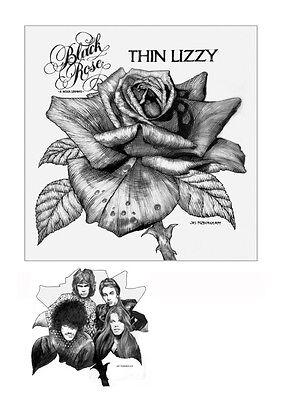 THIN LIZZY BLACKROSE Album artwork by Jim FitzPatrick from the Original Art.