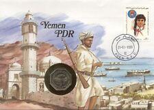 superbe enveloppe YEMEN PDR ADEN monnaie 100 1981 UNC NEW timbre