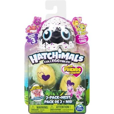 NEW Hatchimals Colleggtibles S3 2-Pk + Nest from Mr Toys