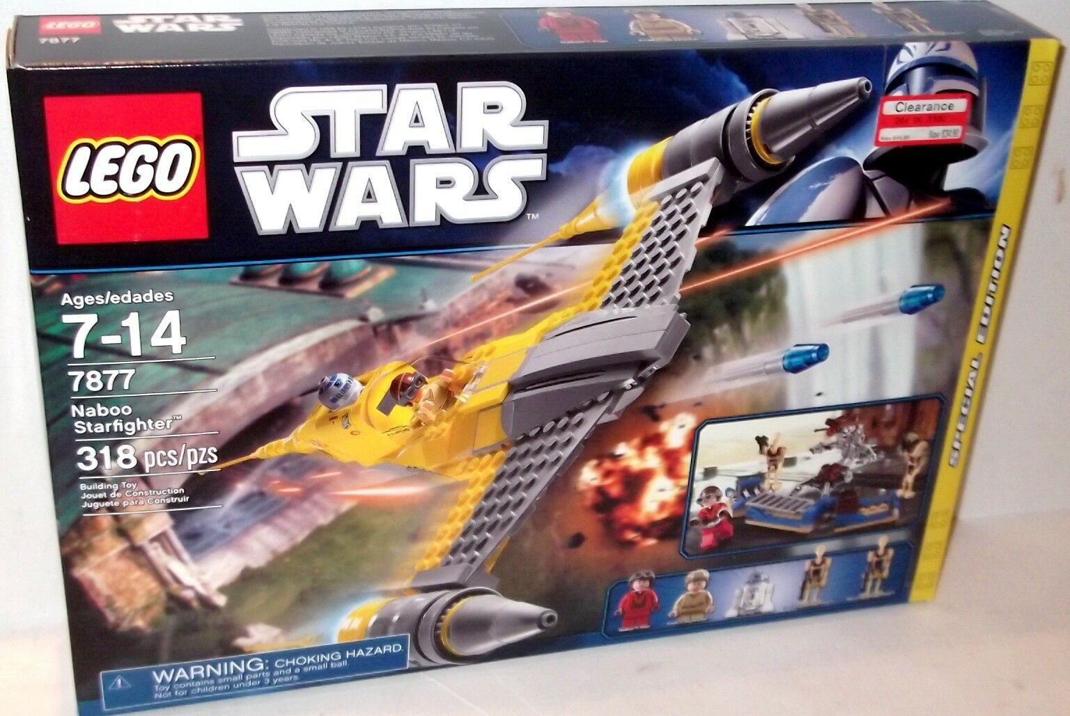 ✰ estrella guerras LEGO in pensione Naboo estrellacombatiente   7877 Nuovo Sigillato in Confezione
