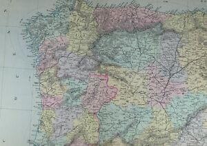 Map Of North West Spain.Details About 1891 Antique Map Spain Portugal North West Galicia Asturias Old Castile