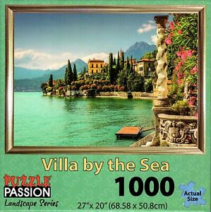 VILLA-BY-THE-SEA-1000-Pc-Jigsaw-Puzzle-by-Puzzle-Passion-Landscape-Series-New