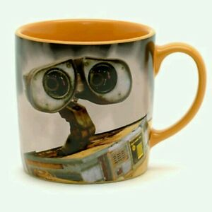 New disney store 3d wall e slogan character mug cup sculpted walle pixar - Walle and eve mugs ...