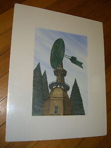 Brownson Windmill, Greenfield Hill, CT, signed R. C. LEDOUX/A.P. Litho 1995