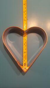 Vintage-Large-Heart-Shaped-Copper-Cookie-Cutter